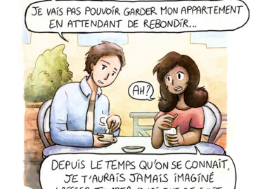 Trouve-toi un vrai travail Sebi Comis Sebi Comics Thomas Cyrix Comic Webcomic français Bande dessiné BD Resto Malentendu Malaisance