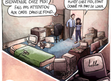 Trouve-toi un vrai travail Sebi Comis Sebi Comics Thomas Cyrix Comic Webcomic français Bande dessiné BD High Tech Informatique PC Ordinateur Geek