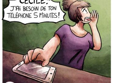 Trouve-toi un vrai travail Sebi Comis Sebi Comics Thomas Cyrix Comic Webcomic français Bande dessiné BD Bug Portable Arnaque Phishing