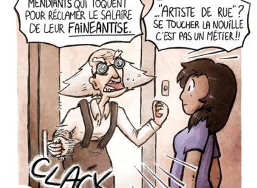 Trouve-toi un vrai travail Sebi Comis Sebi Comics Thomas Cyrix Comic Webcomic français Bande dessiné BD Racisme Viel homme
