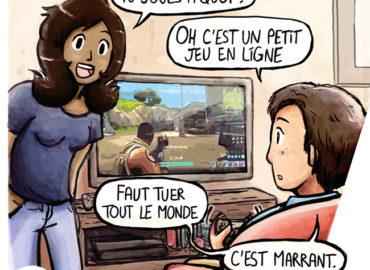 Trouve-toi un vrai travail Sebi Comis Sebi Comics Thomas Cyrix Comic Webcomic français Bande dessiné BD Jeux vidéos Online Fortnite
