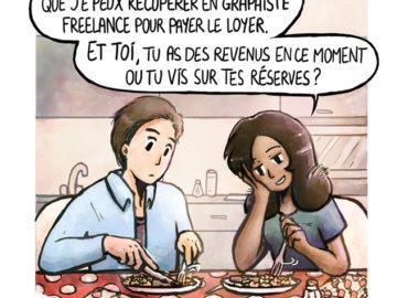 Trouve-toi un vrai travail Sebi Comis Sebi Comics Thomas Cyrix Comic Webcomic français Bande dessiné BD Colocation Loyer