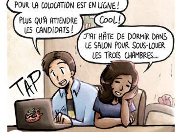 Trouve-toi un vrai travail Sebi Comis Sebi Comics Thomas Cyrix Comic Webcomic français Bande dessiné BD Amandine Arnaque